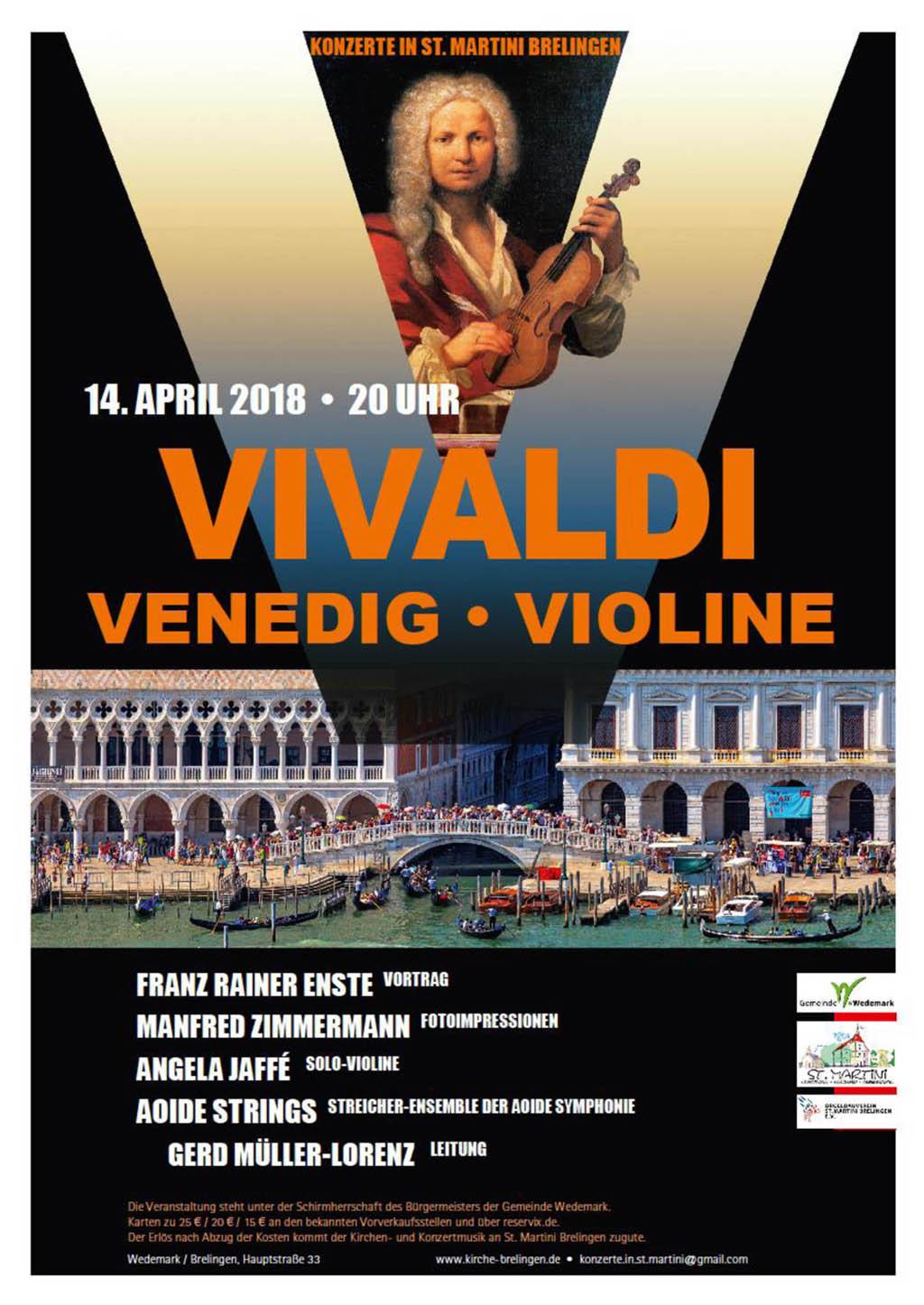 Vivaldi - Venedig - Violine Plakat