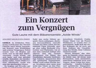 AOIDE Winds Konzert in Hameln