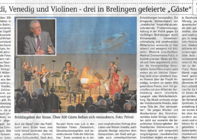 AOIDE strings Konzert in Brelingen