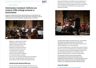 Frederic Cliffe: AOIDE Symphonie entdeckt britischen Komponisten